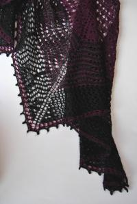Lace shawl for a man Hécate Kristen Kapur